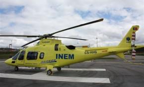 Helicóptero do INEM salva jovem em Vimioso