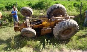 Acidente com trator agrícola faz vítima mortal