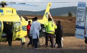 Um ferido grave após acidente de trator