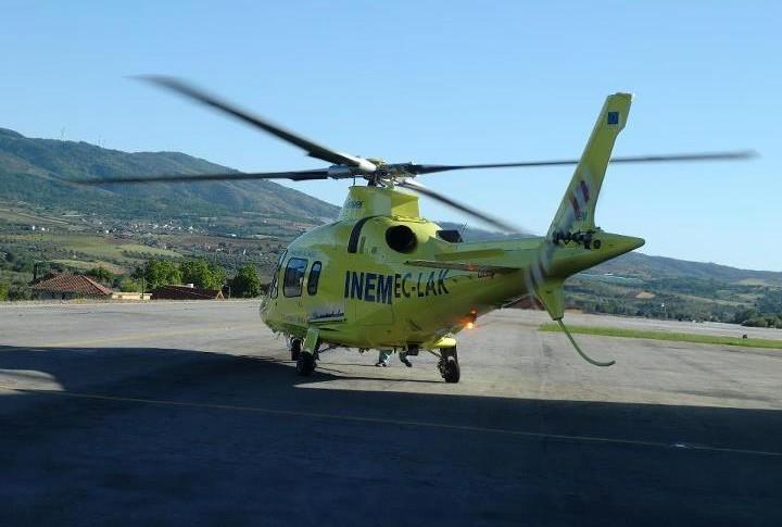 Heli aterra de emergência em Mirandela