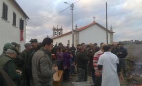 Meles recebeu uma montaria ao javali no passado sábado