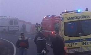 Aparatoso acidente deixa sete caçadores feridos