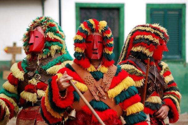 Caretos de Podence participaram no Festival da Máscara Ibérica que aconteceu de quinta a domingo em Lisboa