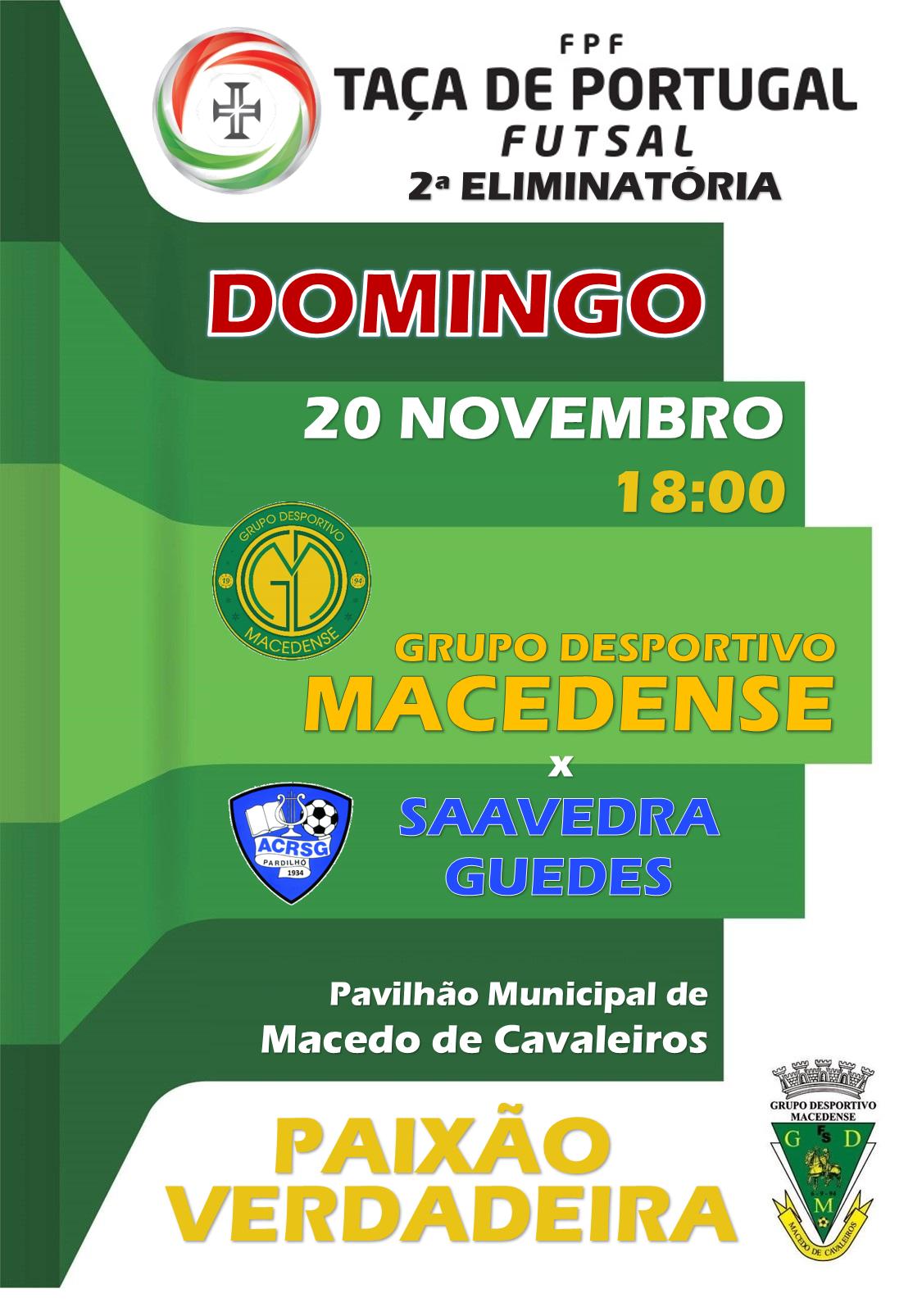 Transmissão em direto: GDM X Saavedra Guedes às 18h
