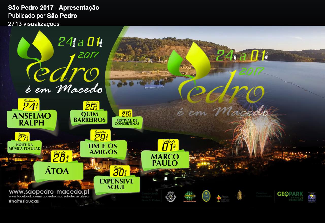 Está oficialmente apresentado o São Pedro 2017
