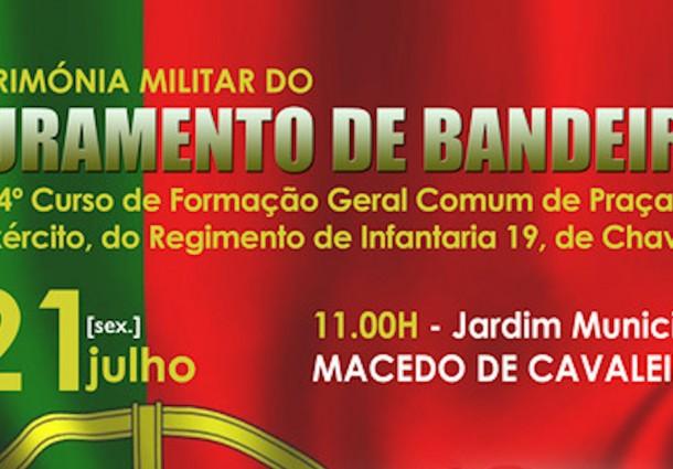 Juramento de Bandeira de Praças amanhã em Macedo de Cavaleiros