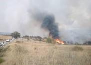 Incêndio leva a corte de estradas