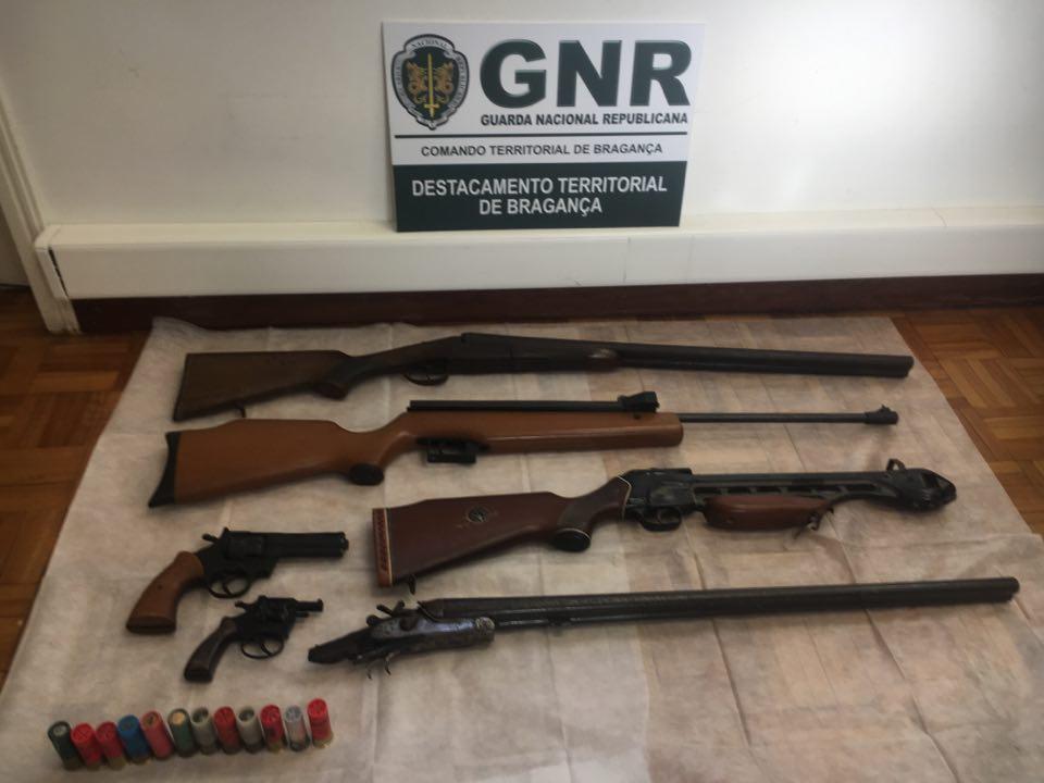 GNR apreende armas ilegais