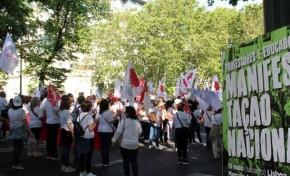 150 professores de Bragança e Mirandela manifestaram-se este sábado, em Lisboa