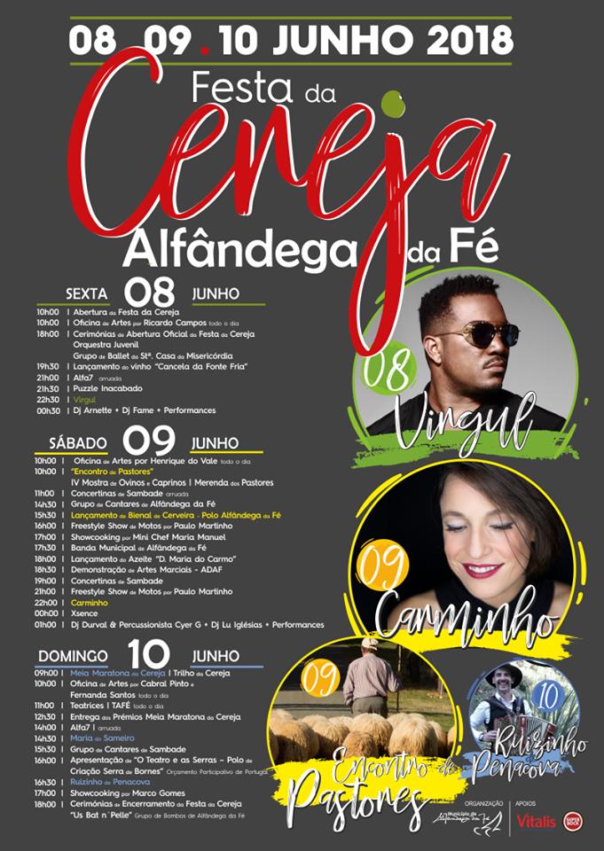 Começa amanhã a 36ª edição da Festa da Cereja em Alfândega da Fé