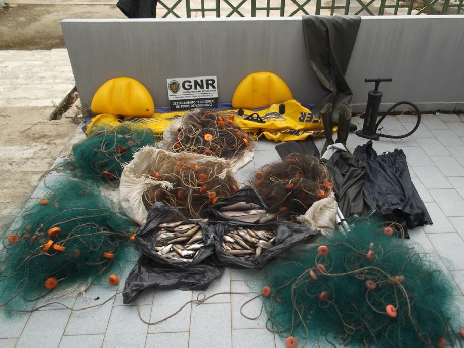 Indivíduo identificado esta manhã por prática de pesca ilegal