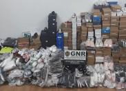 640 artigos contrafeitos apreendidos em Vale da Porca, Macedo de Cavaleiros