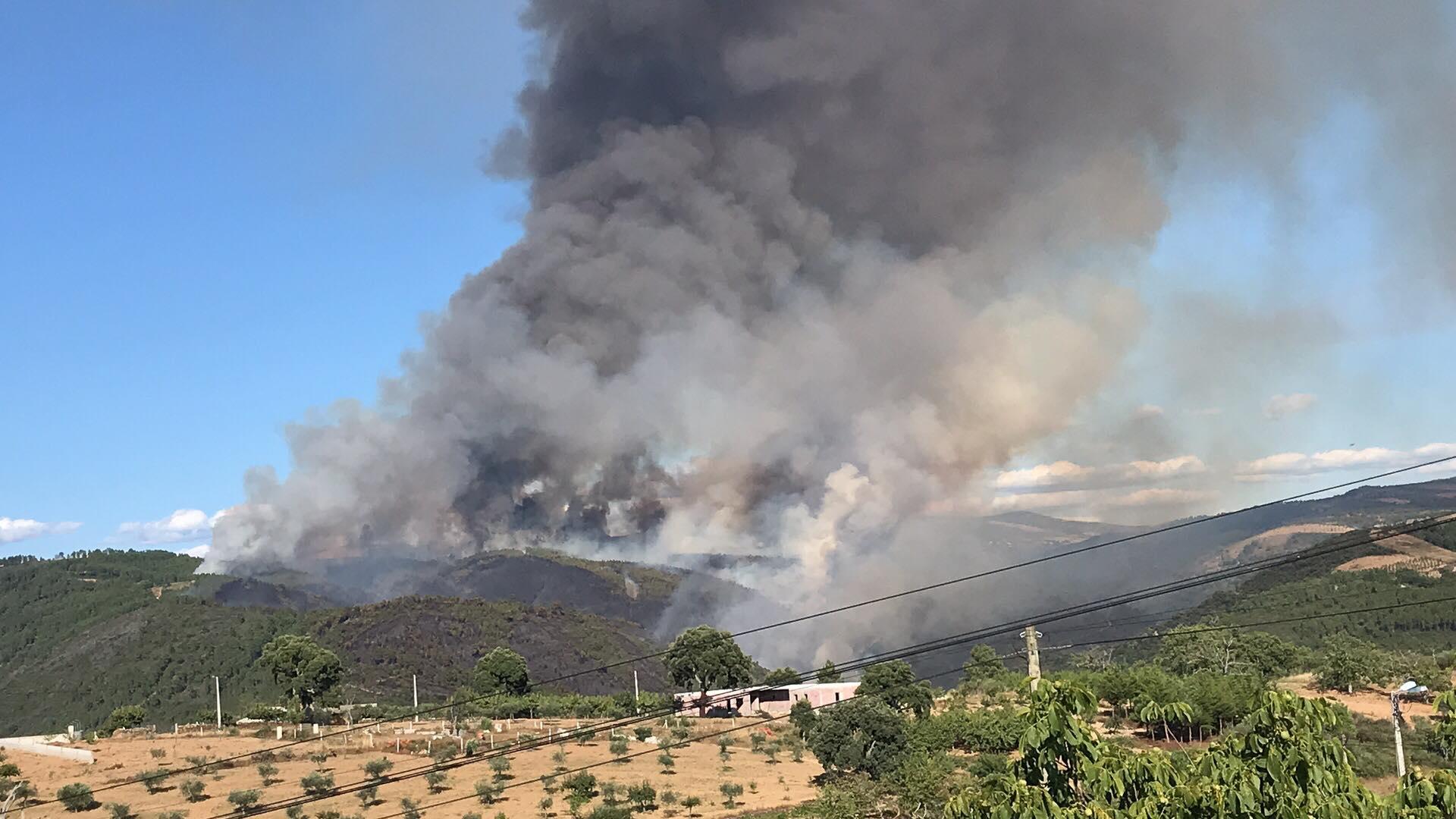 Incêndio de Vinhais ficou dominado cerca das 2h30 desta madrugada