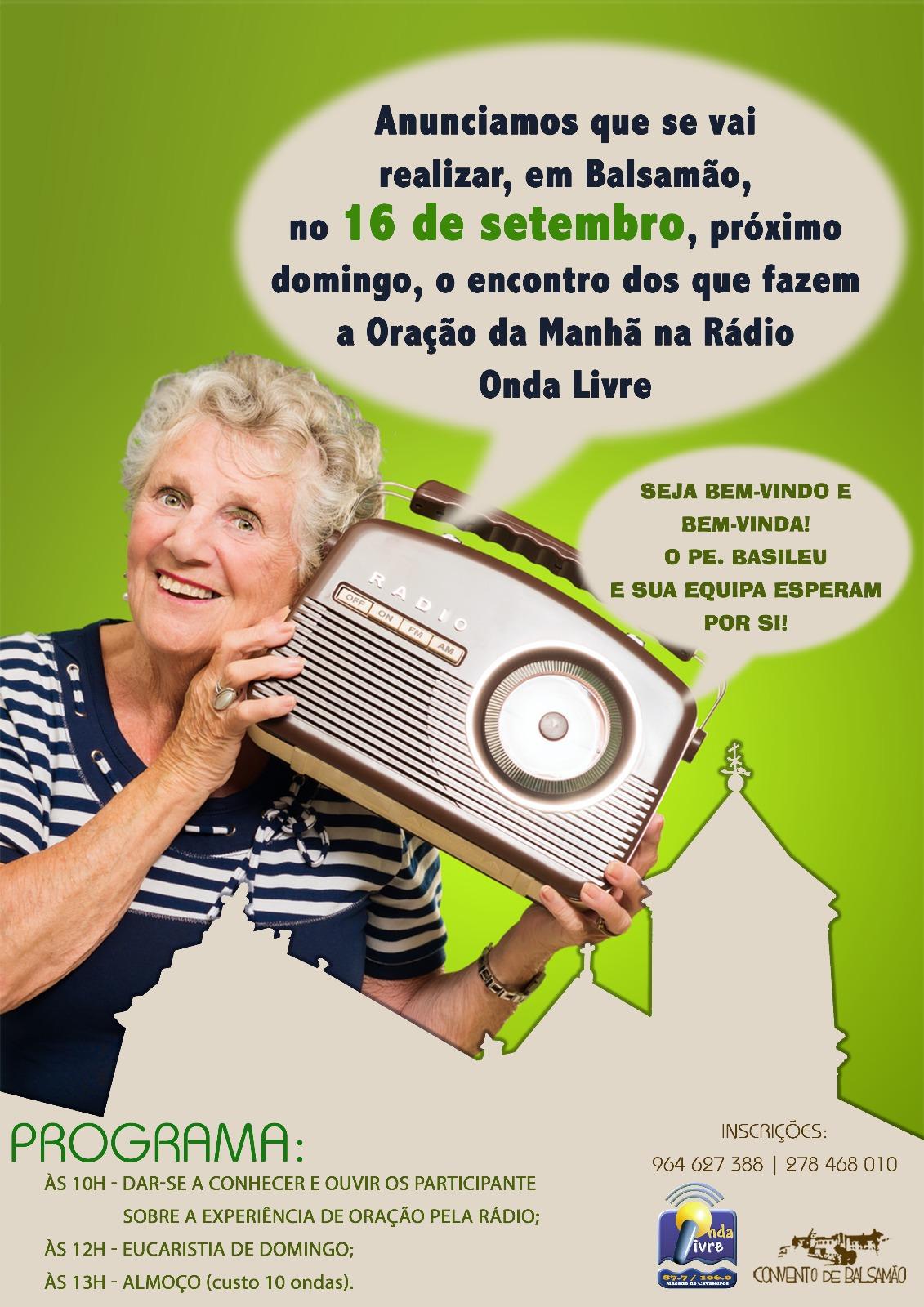 Equipa da Oração da Manhã da Rádio Onda Livre promove encontro entre ouvintes este domingo