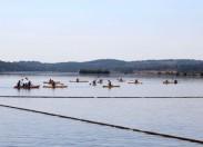 Amantes de canoagem remaram este sábado nas águas do Azibo