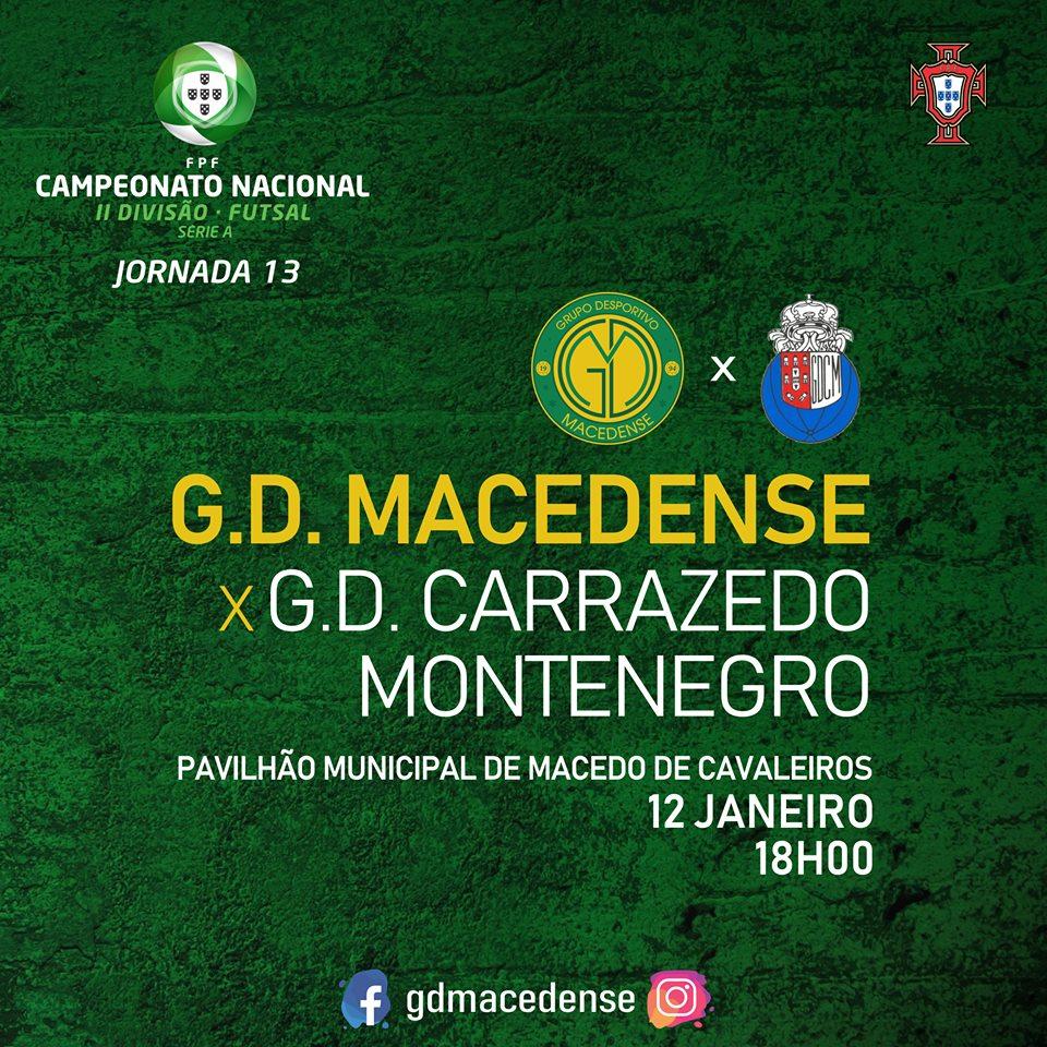 Este sábado há dérbi transmontano: Macedense recebe o Carrazedo de Montenegro