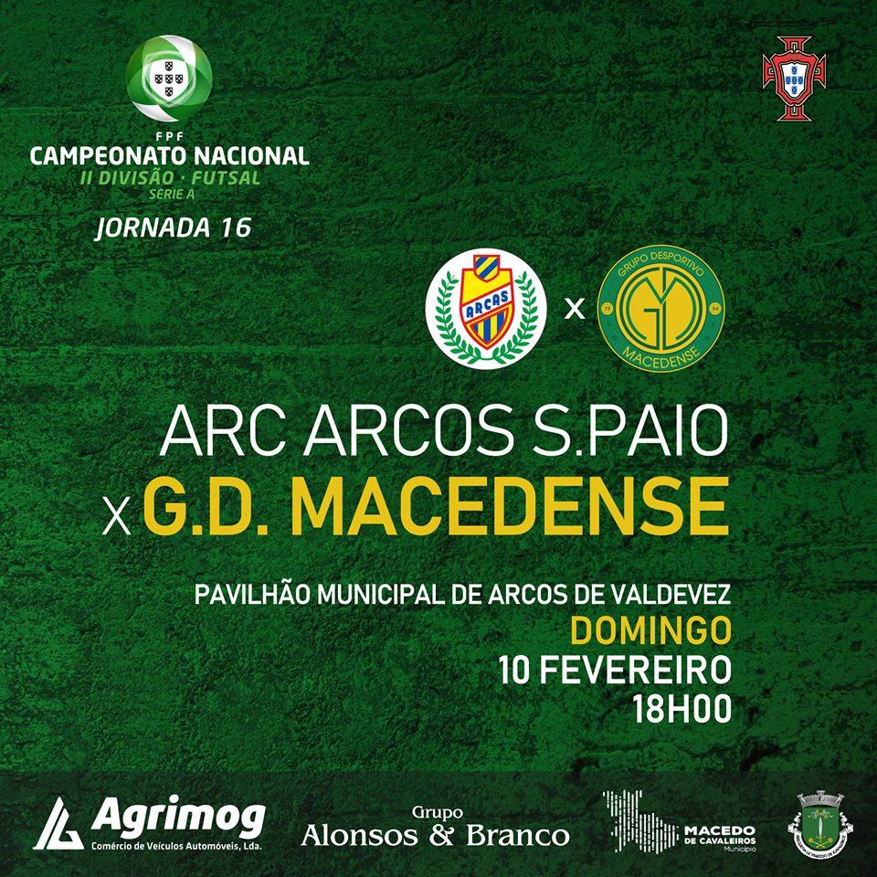 """GDM encontra Arcos S. Paio este domingo para um jogo que se espera """"complicado"""""""