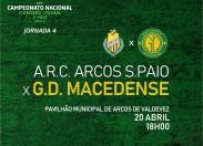 """GDM encontra ARC Arcos S.Paio este sábado para um jogo """"fundamental"""""""