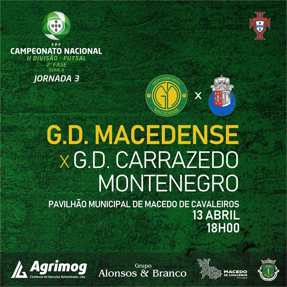 """GDM encontra o Carrazedo de Montenegro este sábado para """"um dos testes mais difíceis desta fase"""""""