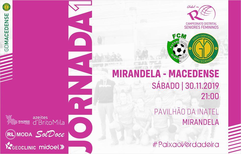 Equipa feminina do GDM começa campeonato distrital amanhã frente ao Mirandela