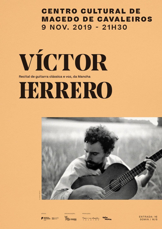 Victor Herrero passa este sábado pelo Centro Cultural de Macedo de Cavaleiros