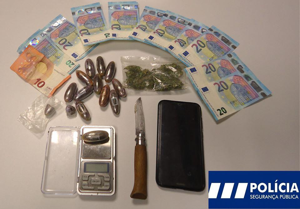 Estudante universitário detido por suspeita de tráfico de droga em Mirandela