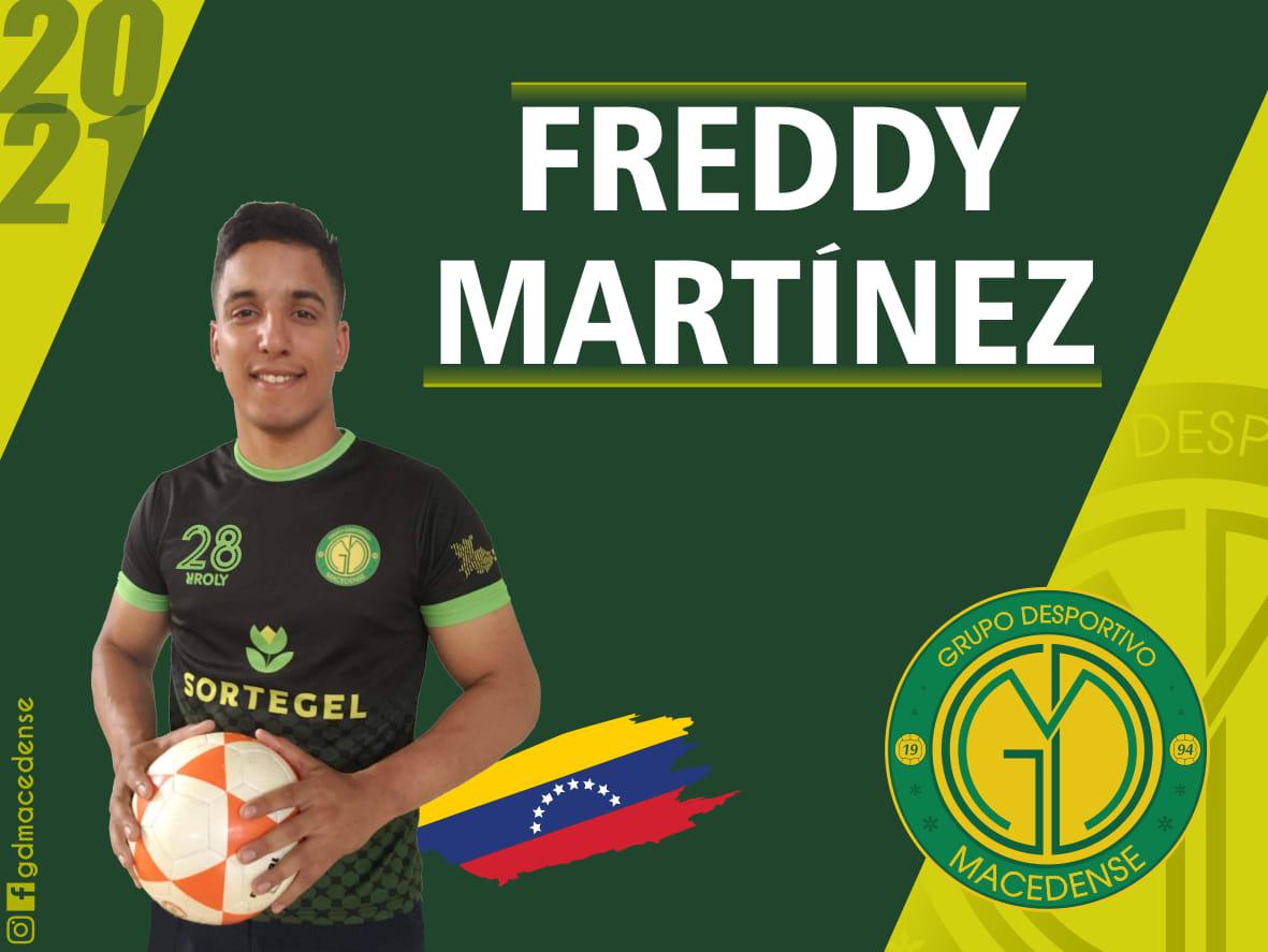 Freddy Martínez é a mais recente contratação do Grupo Desportivo Macedense