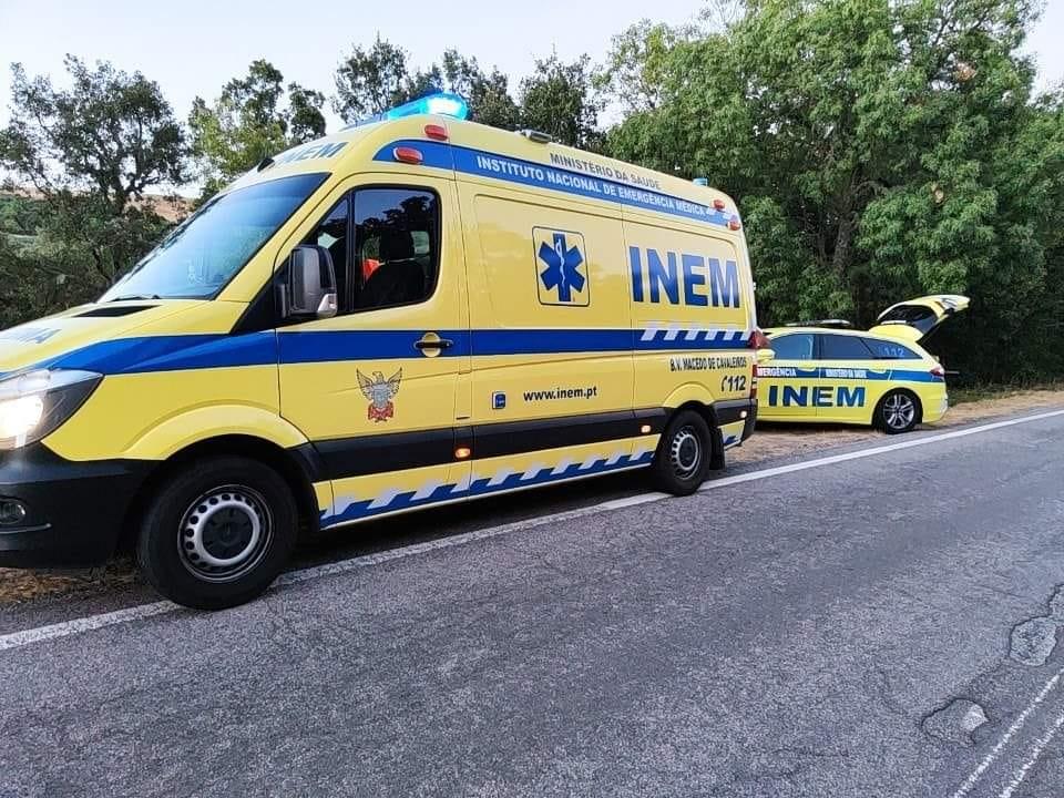 Despiste de moto 4 faz ferido em Talhas