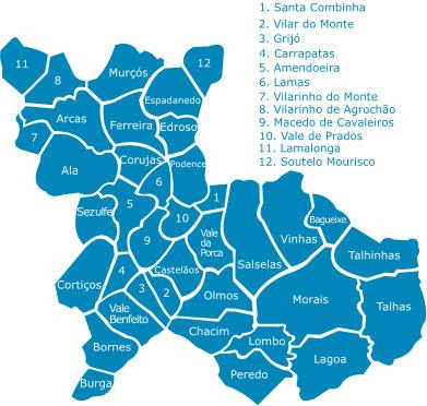 mapa de macedo de cavaleiros portugal Resultados eleições autárquicas: freguesias do concelho de Macedo  mapa de macedo de cavaleiros portugal