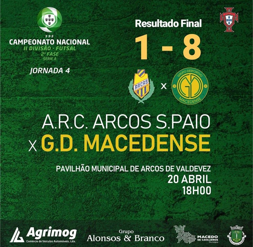 GDM dá goleada ao Arcos S. Paio e fica a uma vitória da manutenção