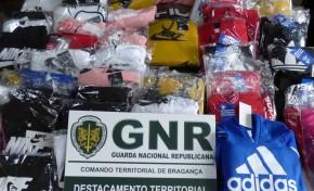 GNR apreende 380 peças de vestuário contrafeito em Mogadouro