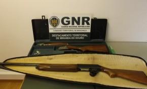 GNR apreendeu duas caçadeiras durante investigação de um processo de violência doméstica