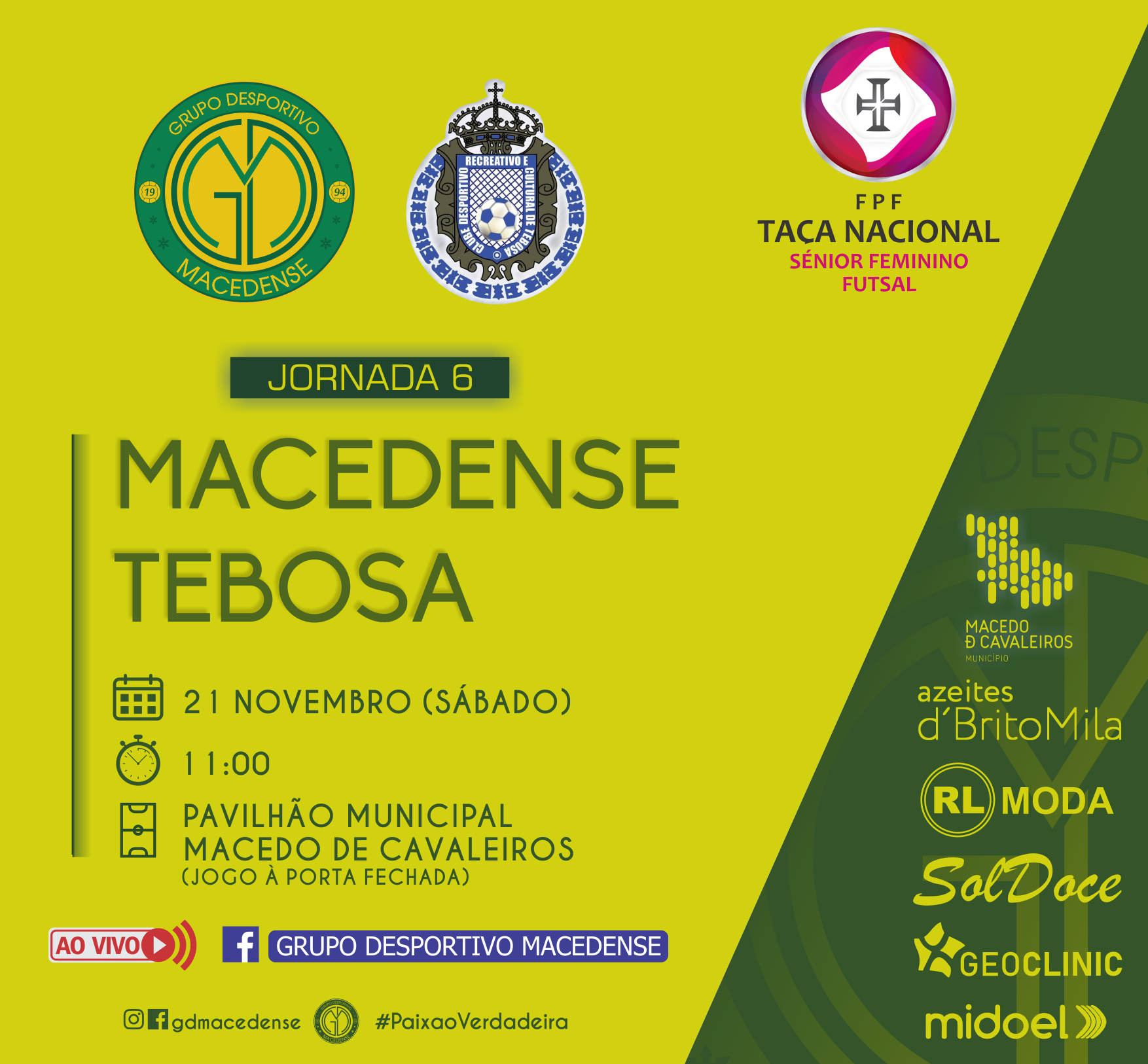 Macedense recebe Tebosa na última jornada da Taça Nacional