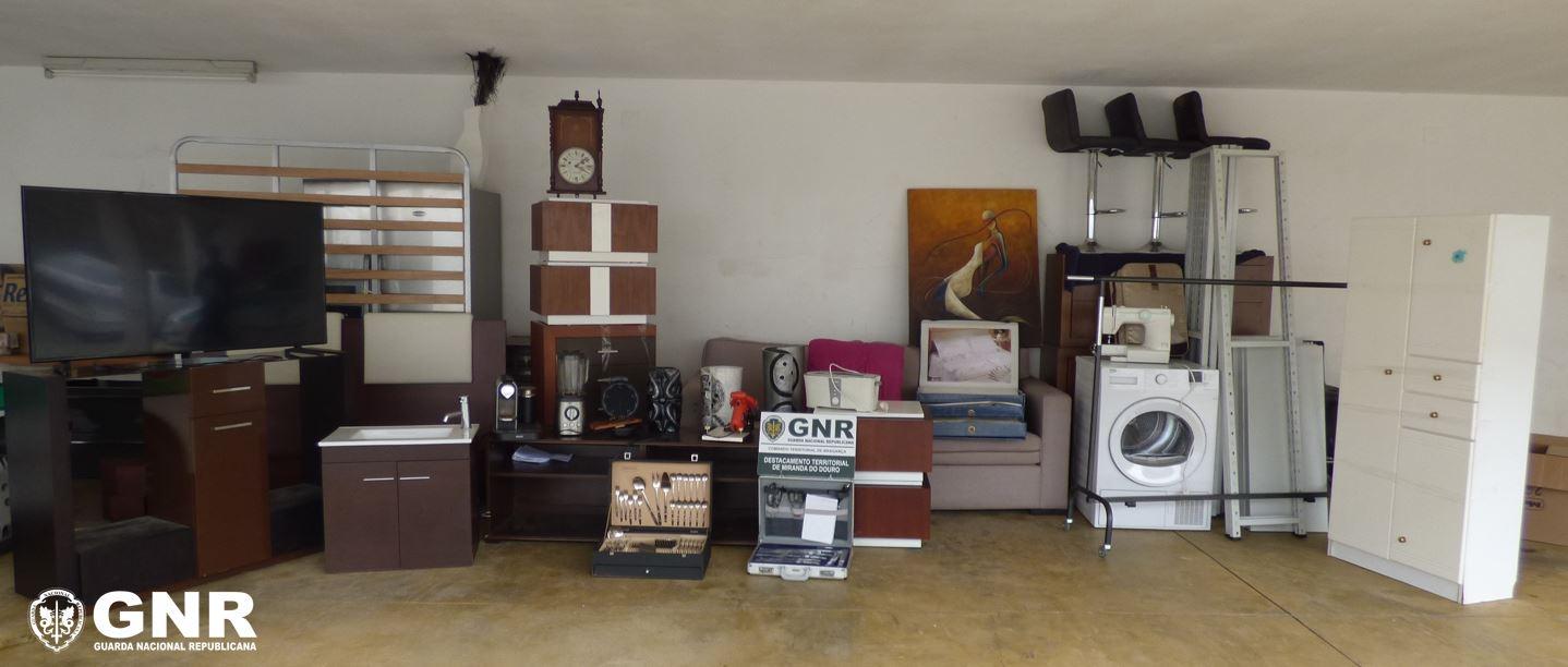 GNR recuperou material furtado de residências nos concelhos de Mogadouro, Miranda do Douro e Vimioso