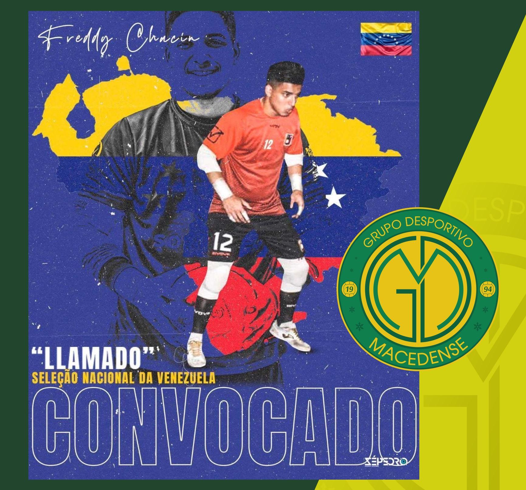 Guarda-redes do GDM volta a ser convocado para representar a Seleção Venezuelana de Futsal