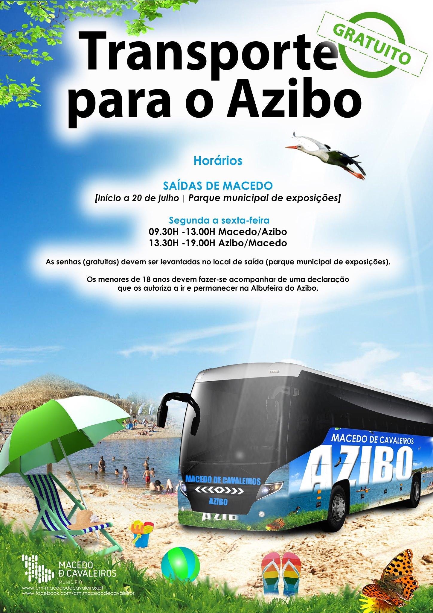 Transporte gratuito para as praias do Azibo começa hoje