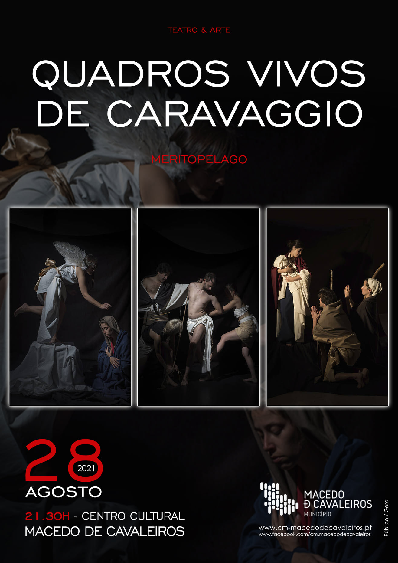 """""""Quadros Vivos de Caravaggio"""": a proposta cultural para sábado à noite"""