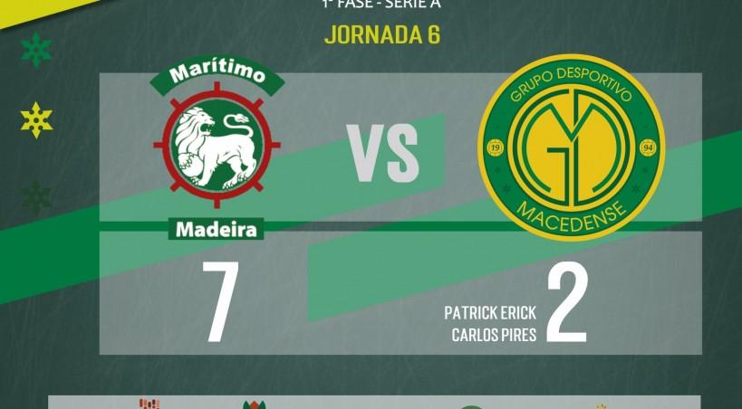 GDM vem de mãos a abanar da Madeira com derrota por 7-2 este sábado